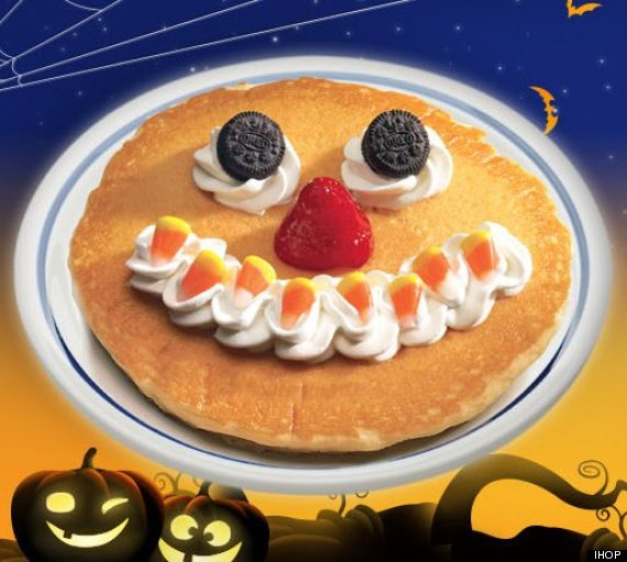 Scary pancakes at IHOP