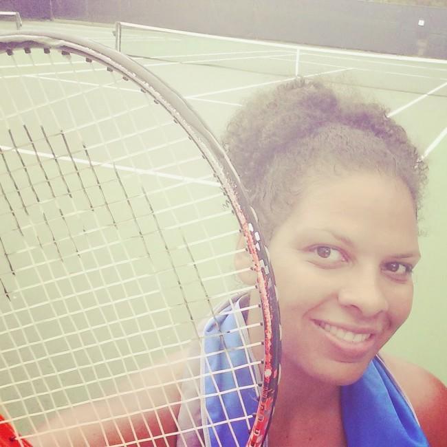 Maria playing tennis