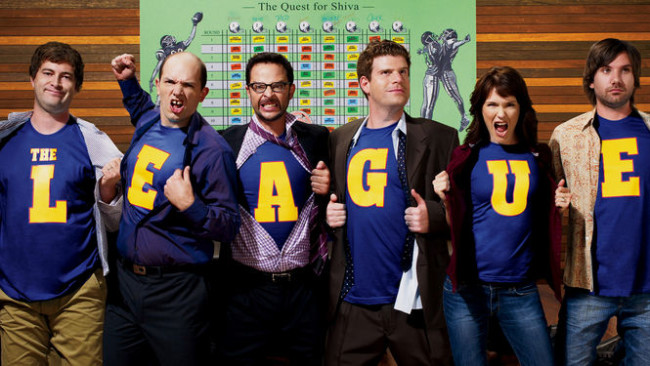 The League Seasons 1-5 is on  Netflix