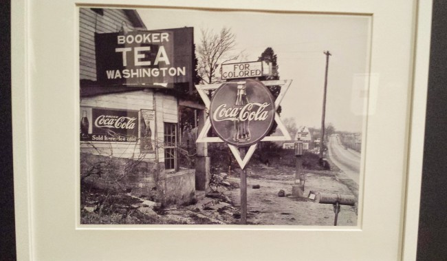 Photo on display at the Coca-Cola exhibit at the High Museum