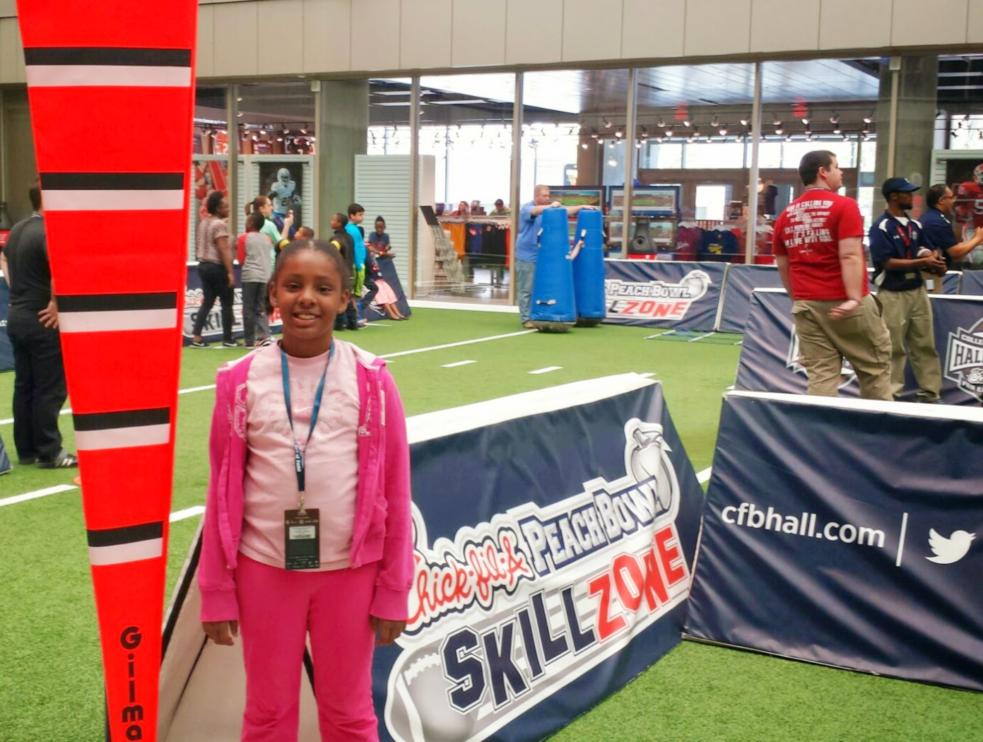 Girls and boys can have fun at the College Football Hall of Fame