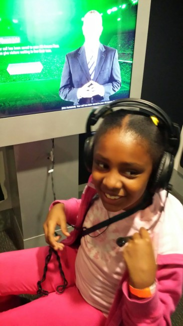 College Football Hall of Fame interactive station