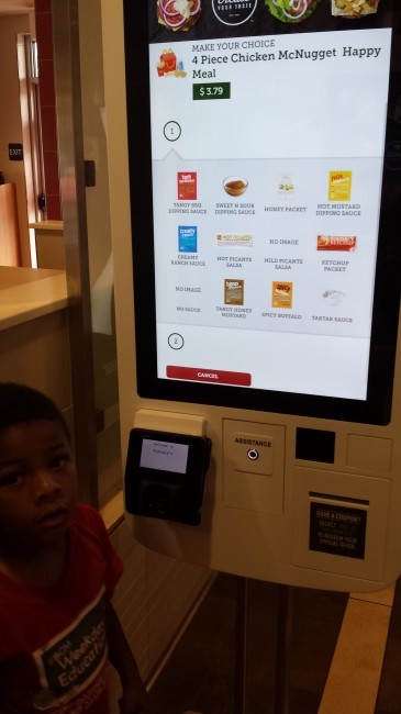Even a 5 year old can enter an order at select McDonald's