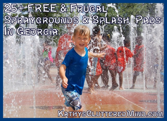 25+ free and frugal sparygrounds and splash pads in Georgia