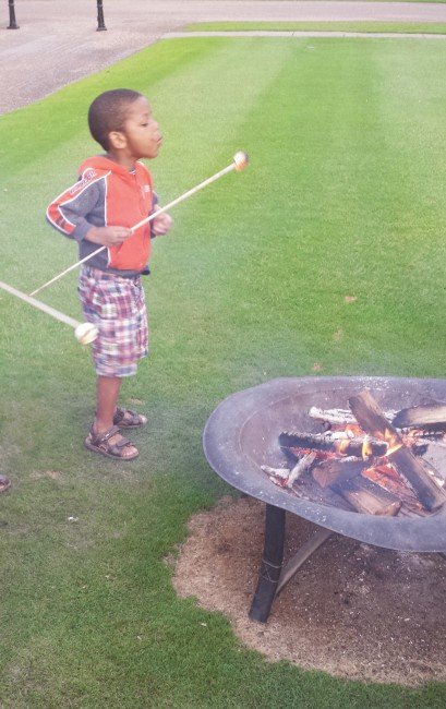 S'mores and camp fire