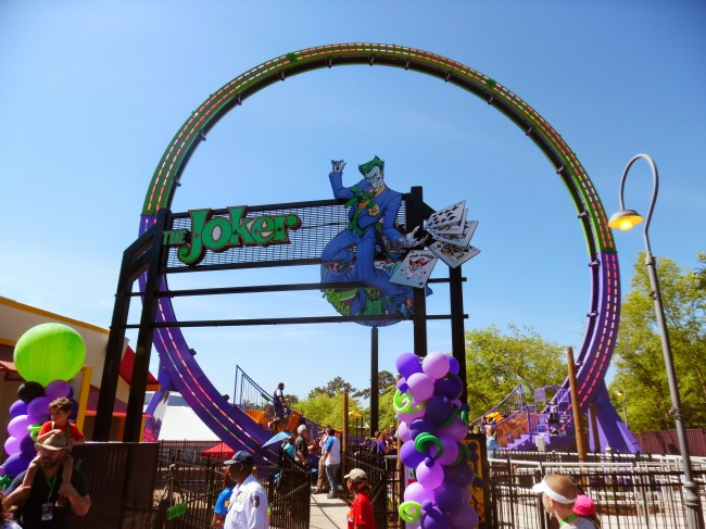 Six Flags Over Georgia debuted The Joker in 2015