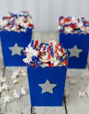 July 4th recipes |Patriotic Popcorn