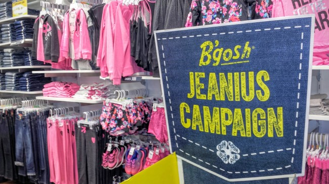 The B'gosh Jeanius Campaign works to give kids in need clothes for a great start to a new year.