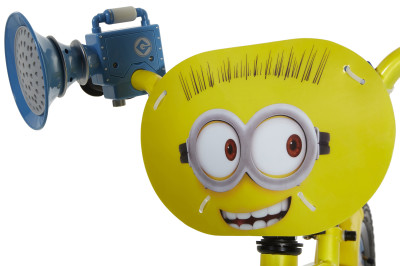 This Minions Bike comes with a Fart Blaster!