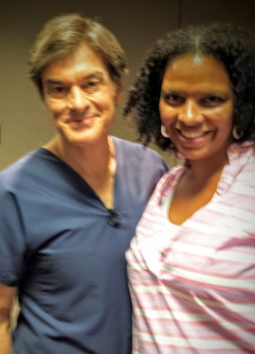Dr. Oz and Maria Smith at his 2014 healthy living event in Atlanta.