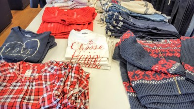 The holiday collection at Oshkosh B'gosh is flying off the shelves.