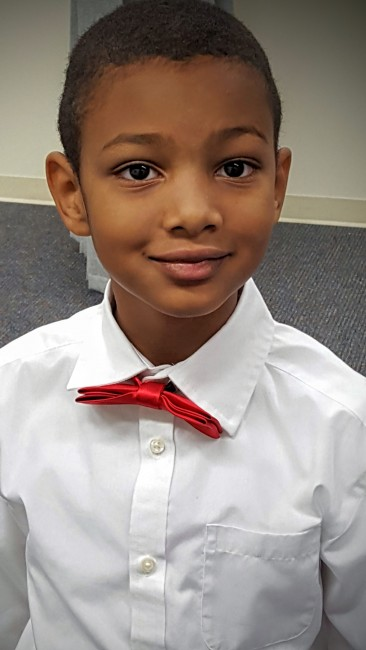 My 7 year old looked dapper for the Christmas concert at Church.