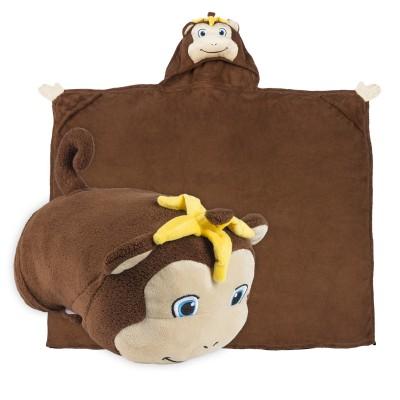 Comfy Critters monkey blanket