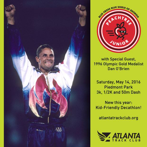 Dan O'Brien will be at the Peachtree Jr race this year!