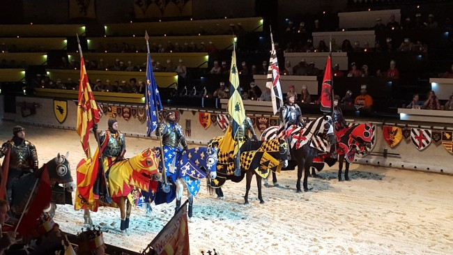 The knights all have outstanding horsemanship and sword fighting skills at Medieval Times.