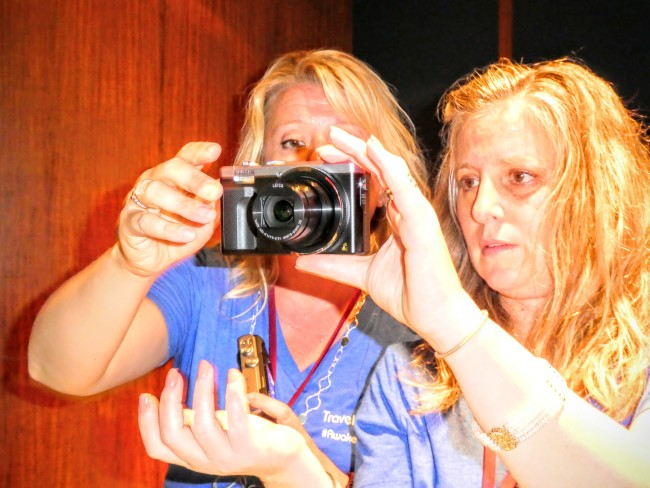 My fellow travelingmom.com writers loved showing off the features of the LUMIX ZS60.