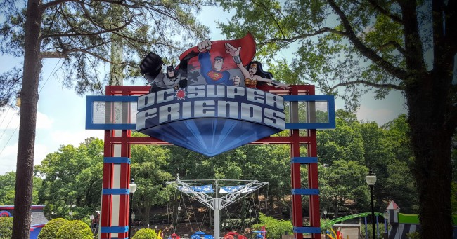 The DC Super Friends area is one of the many areas you get to explore that's included in this Six Flags Over Georgia flash sale.