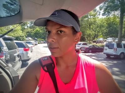 Tennis makes me sweat. A lot.