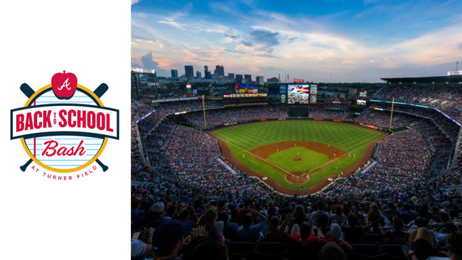 Atlanta Braves are hosting a back to school bash on July 31st.