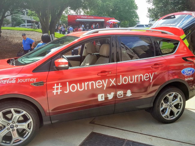 Coca-Cola launched their 20+ city #JourneyxJourney adventure today with this tricked out Ford Escape.