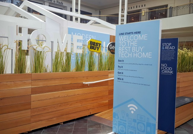 The Best Buy Tech Home is set up at Northpoint Mall in Atlanta through October 14, 2016.
