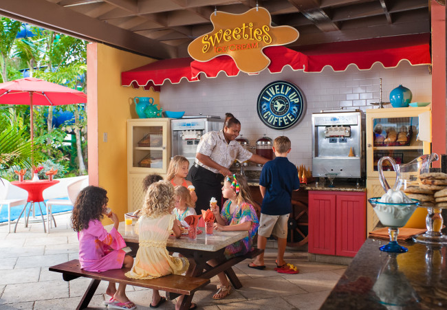 The kids club at Beaches Resorts offers ice cream for all...all day!