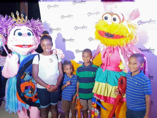 The Beaches Negril Kids Club includes exploring all the Sesame Street fun throughout the resort.
