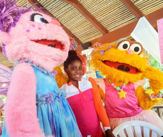 Sesame Street is featured at Beaches Resorts.