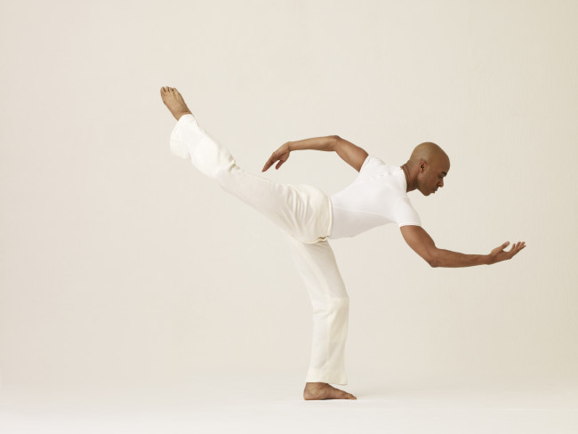 Matthew Rushing performs in Alvin Ailey's Revelations.