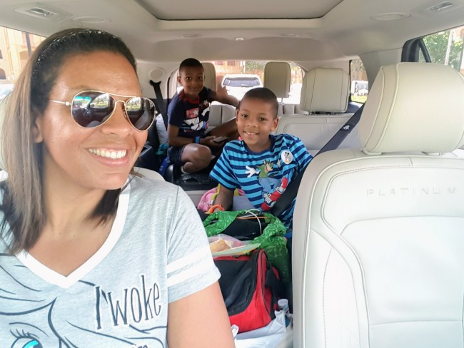 The Ford Explorer was large enough for our family of six to fit comfortably.