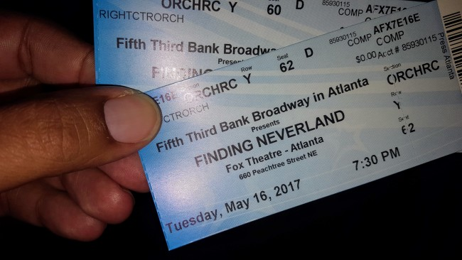You won't regret spending 2 hours seeing Finding Neverland at the Fox Theatre this weekend in Atlanta.