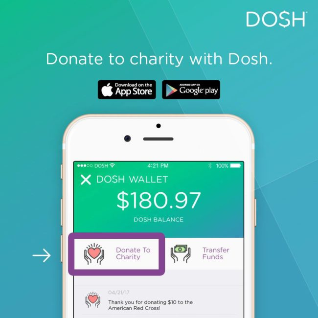You can now give your Dosh cash to one of 2.2 million charities.