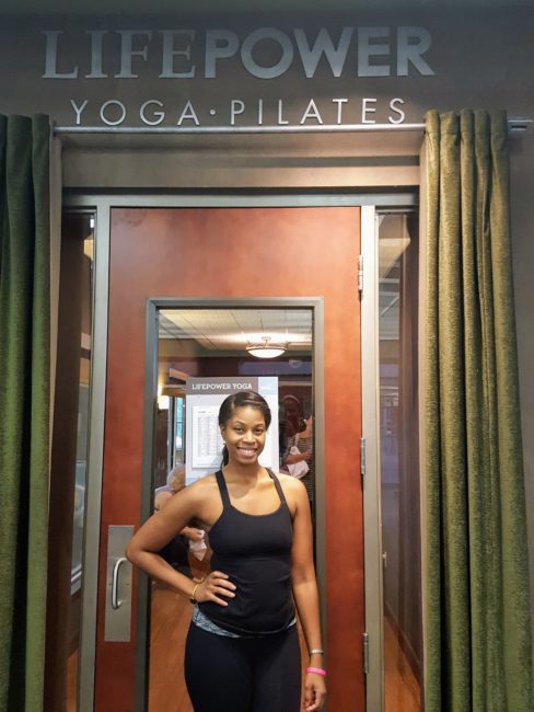 Vernette Chanel of Life Time Fitness swears by yoga and Pilates.