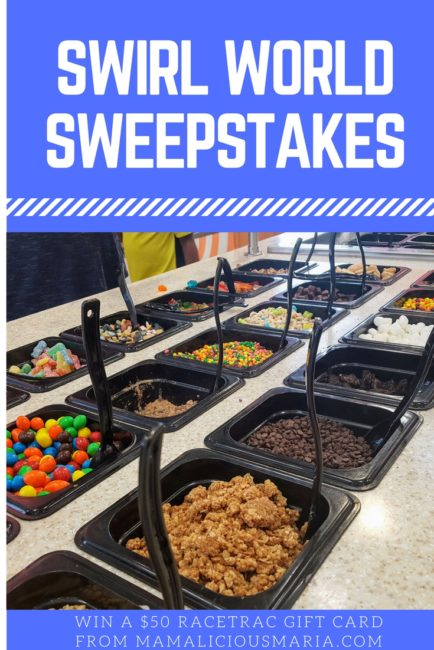Enter this Swirl World sweepstakes to win a $50 gift card to Racetrac. That could buy a lot of ice cream. Or you know...gas.