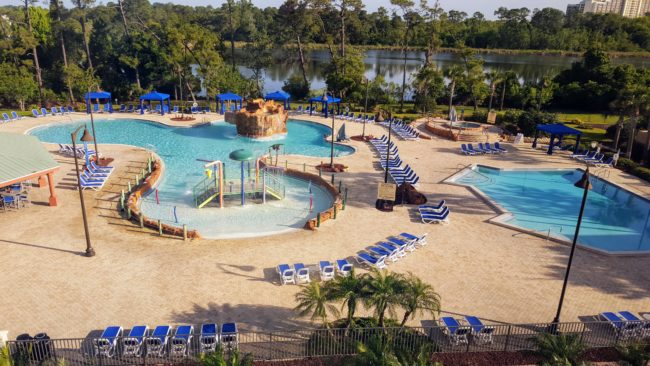 Wyndham Lake Buena Vista Gardens is one of the best travel deals at hotels near Florida theme parks. It's right across the street from Disney Springs!