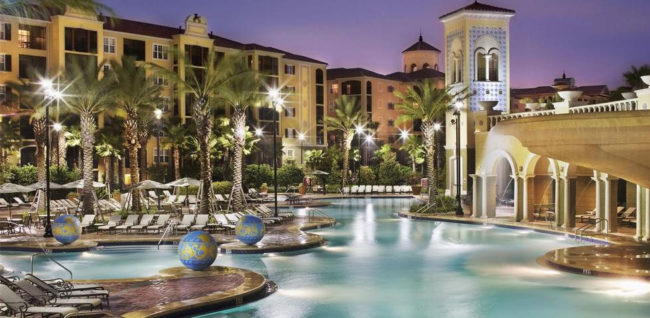 For some extra space, check out the Hilton Grand Vacations at Tuscany Village resort near Florida theme parks, specifically Walt Disney World.