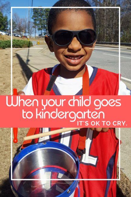 Kindergarten moms, it's OK to be sad.