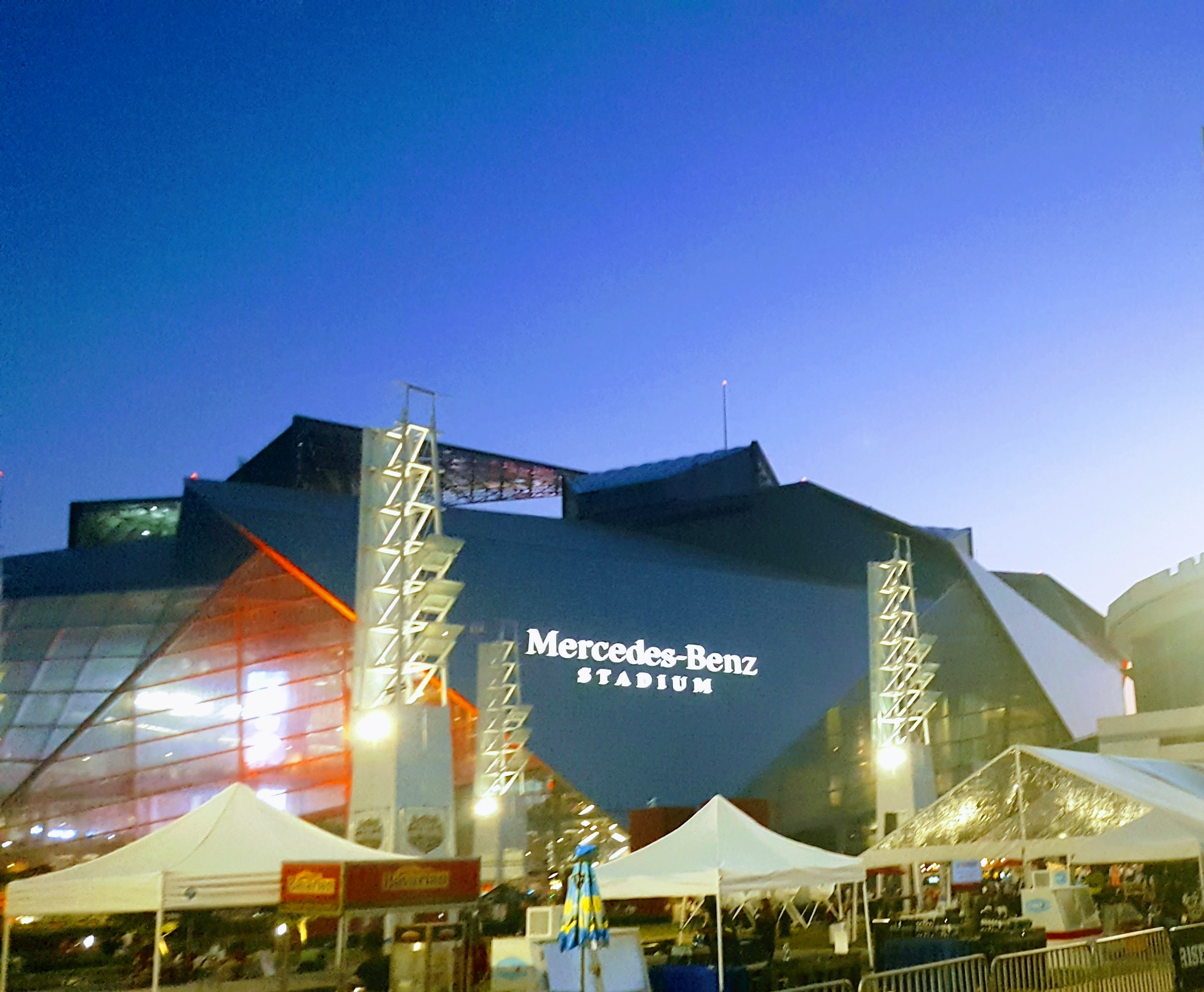 Win tickets to playoff fan central in atlanta this weekend for Mercedes benz stadium concerts